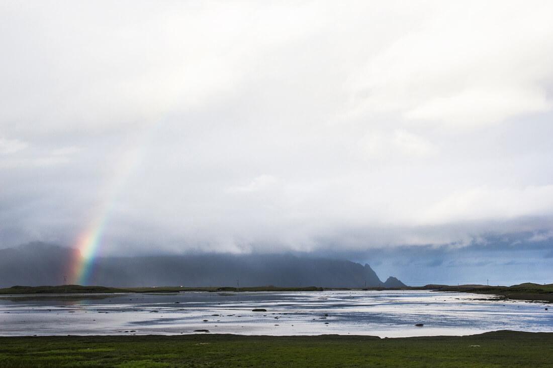 Islandia autostopem tęcza
