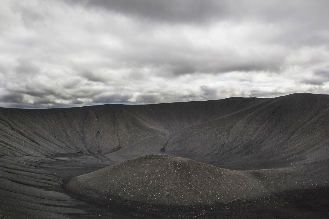 Islandia autostopem wulkan Hverfjall