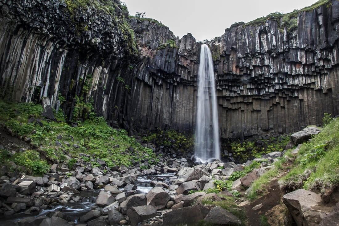 Islandia wodospad Svartifoss