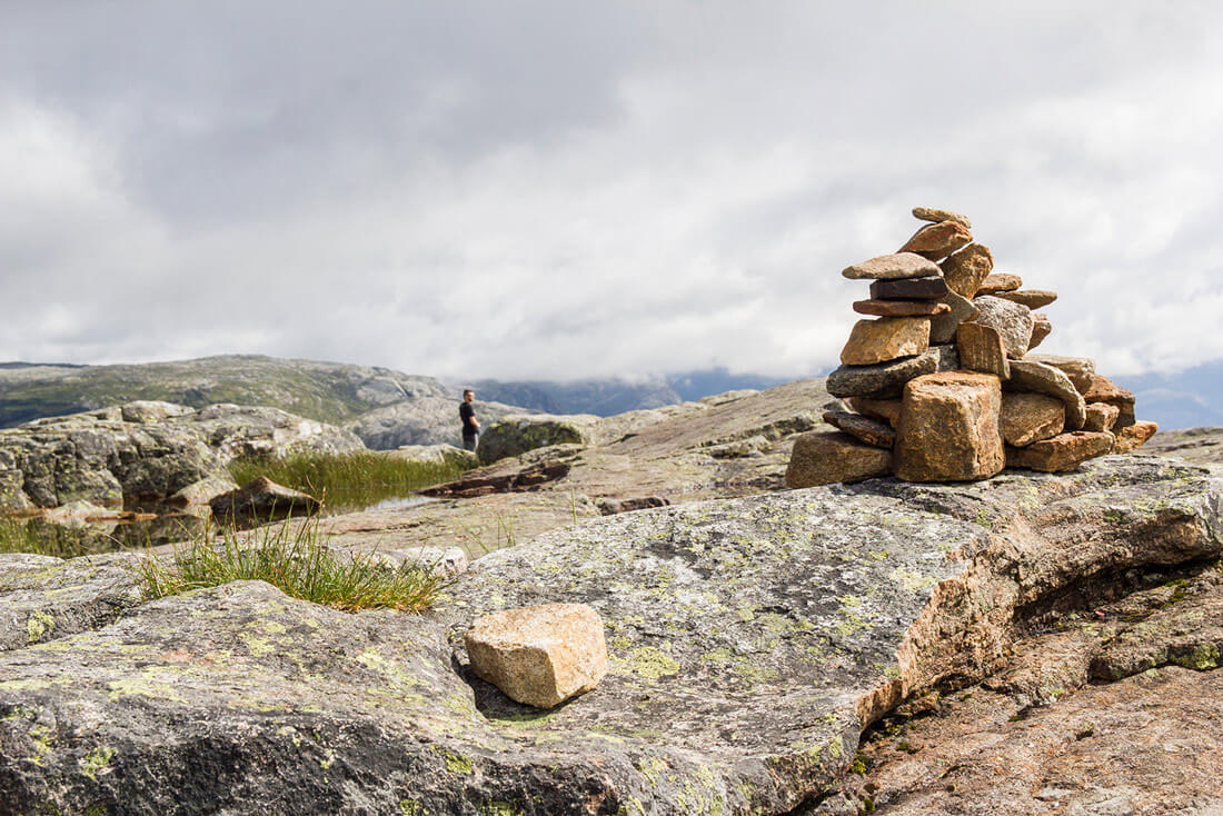 Norwegia, Preikestolen, kamienie