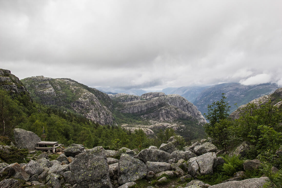 Norwegia, Preikestolen, krajobraz