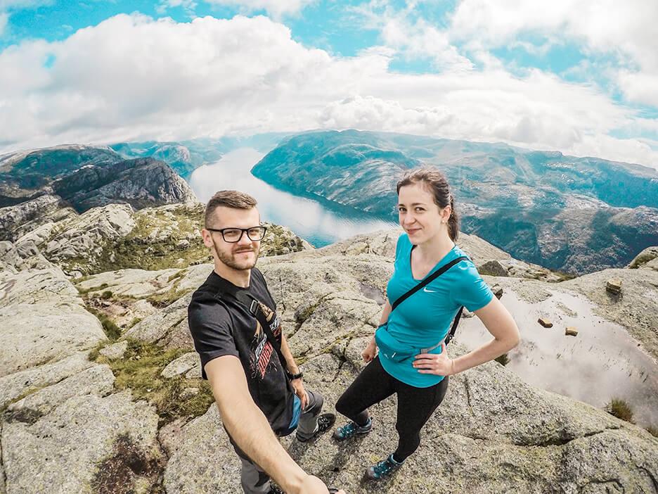 Norwegia, Preikestolen, podroznicy