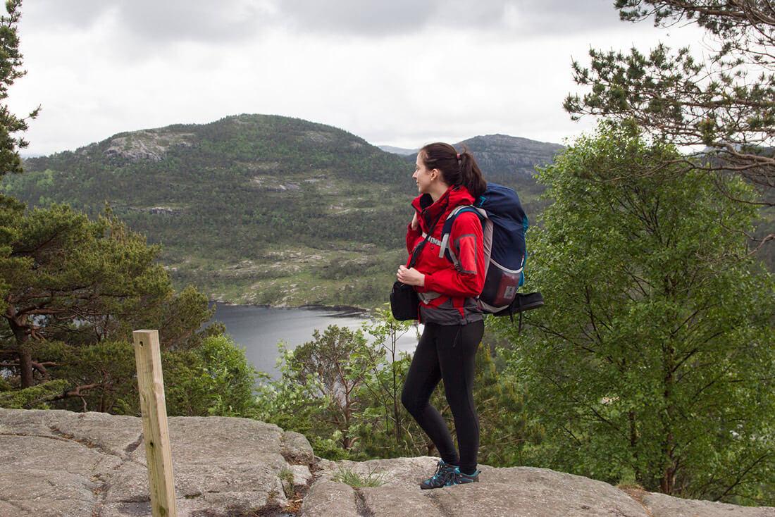 Norwegia, Preikestolen, na szlaku