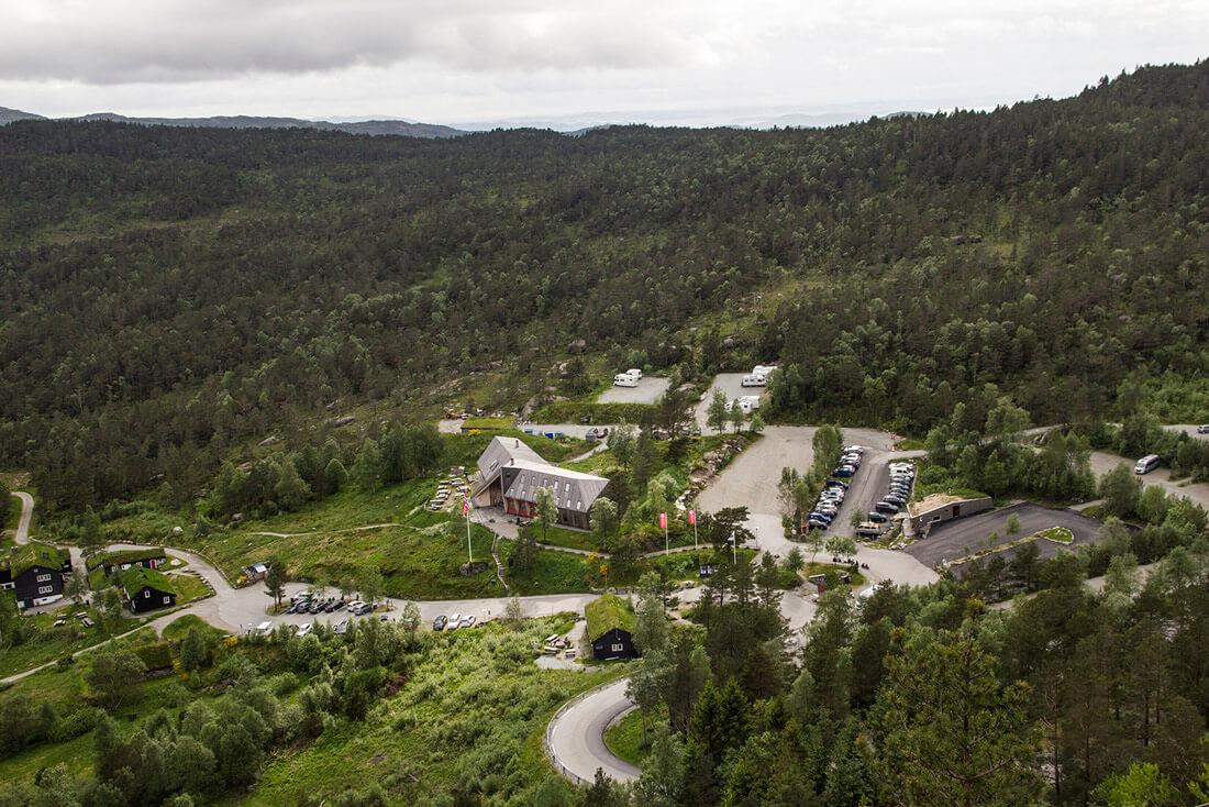 Norwegia, Preikestolen, szlak