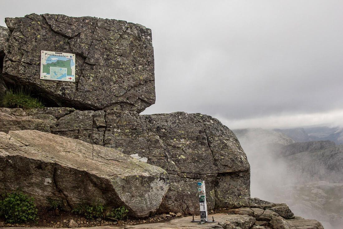 Norwegia, Preikestolen, trekking