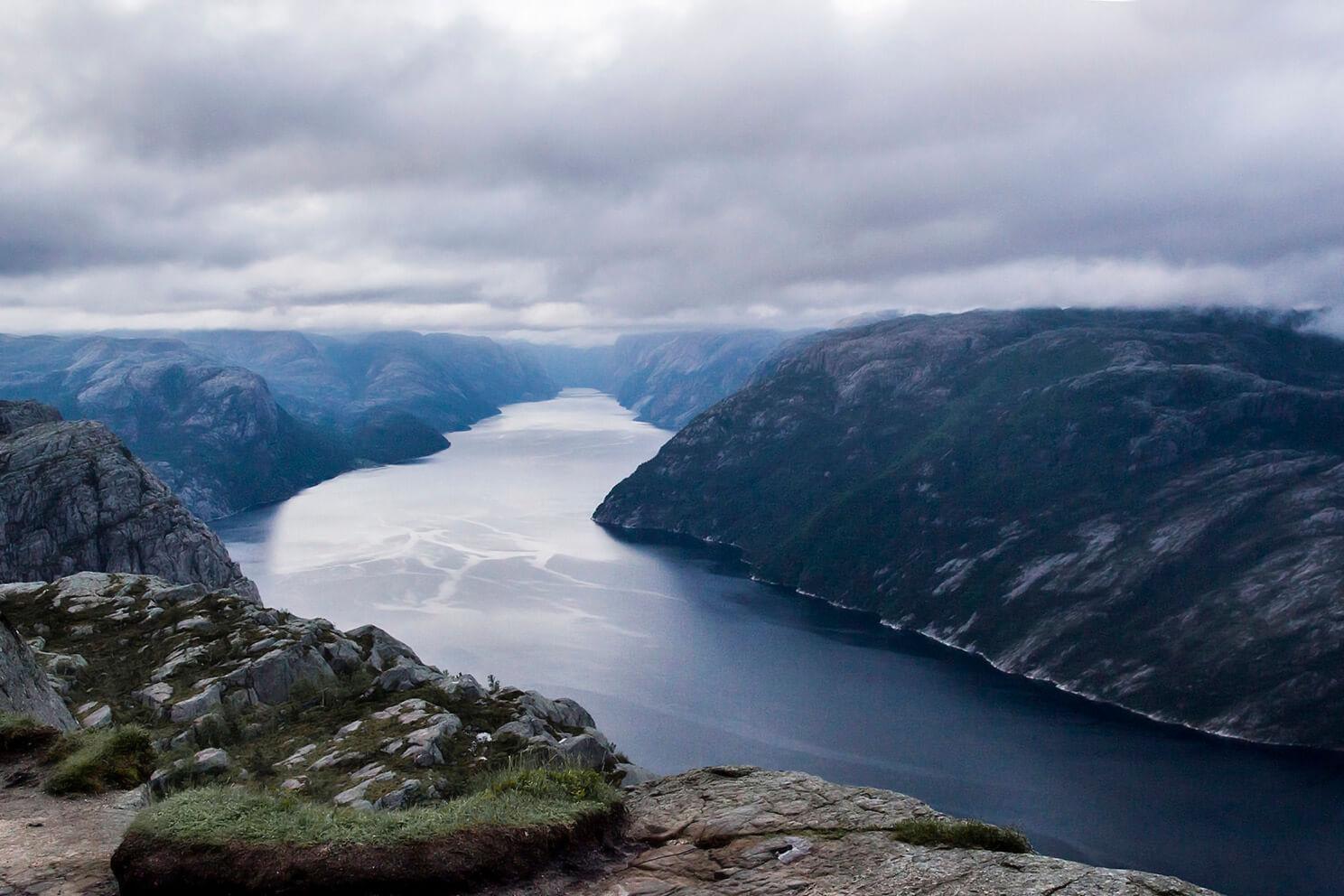 Norwegia, Preikestolen, widok