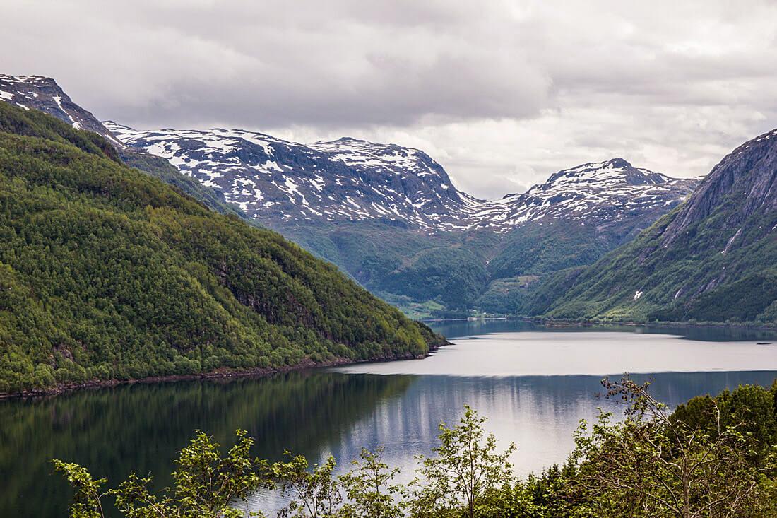 Norwegia autostop jezioro