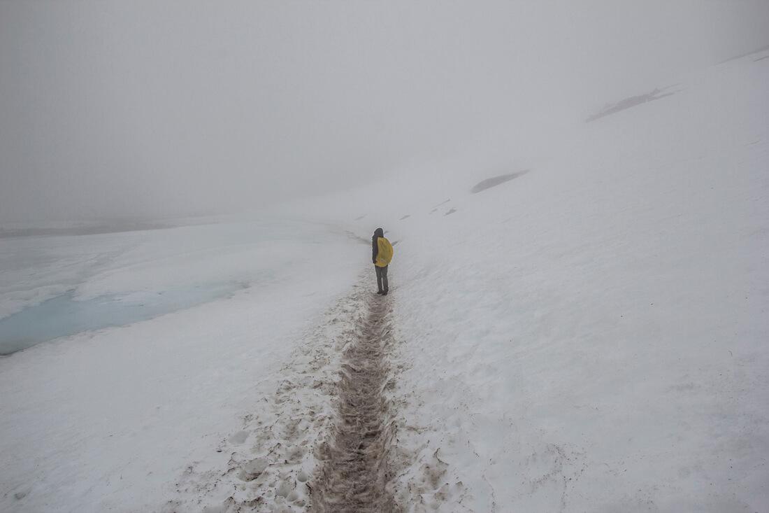 Norwegia szlak na Trolltungę i snieg