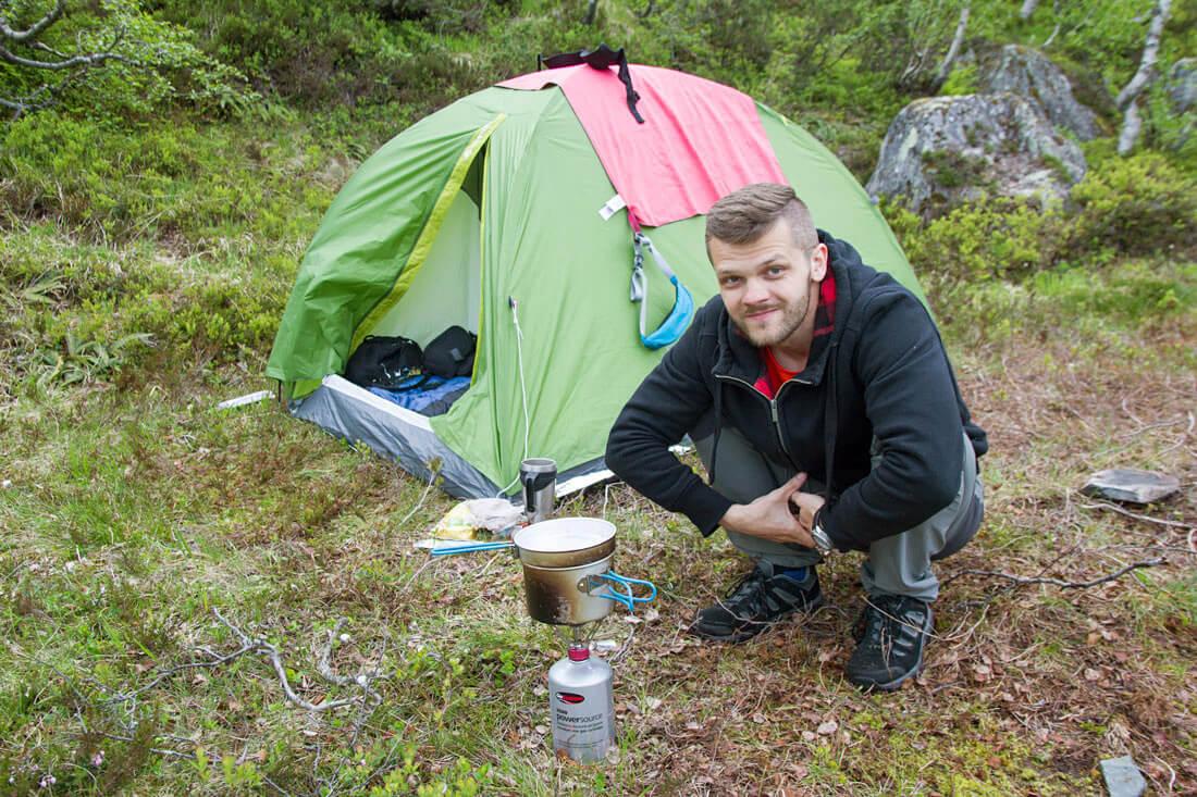 Norwegia obozowisko Trolltunga