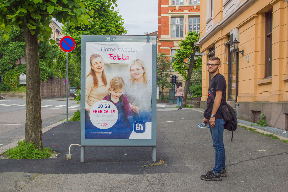 Norwegia autostop zwiedzanie