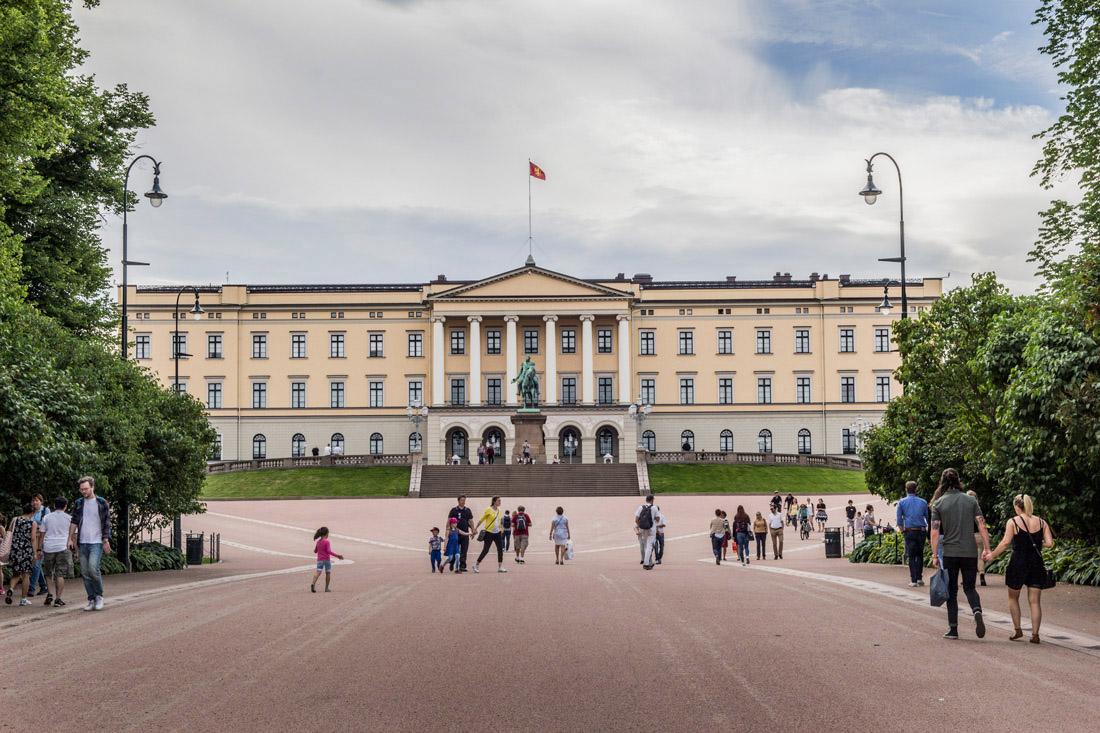 Norwegia Oslo w jeden dzień Pałac Królewski