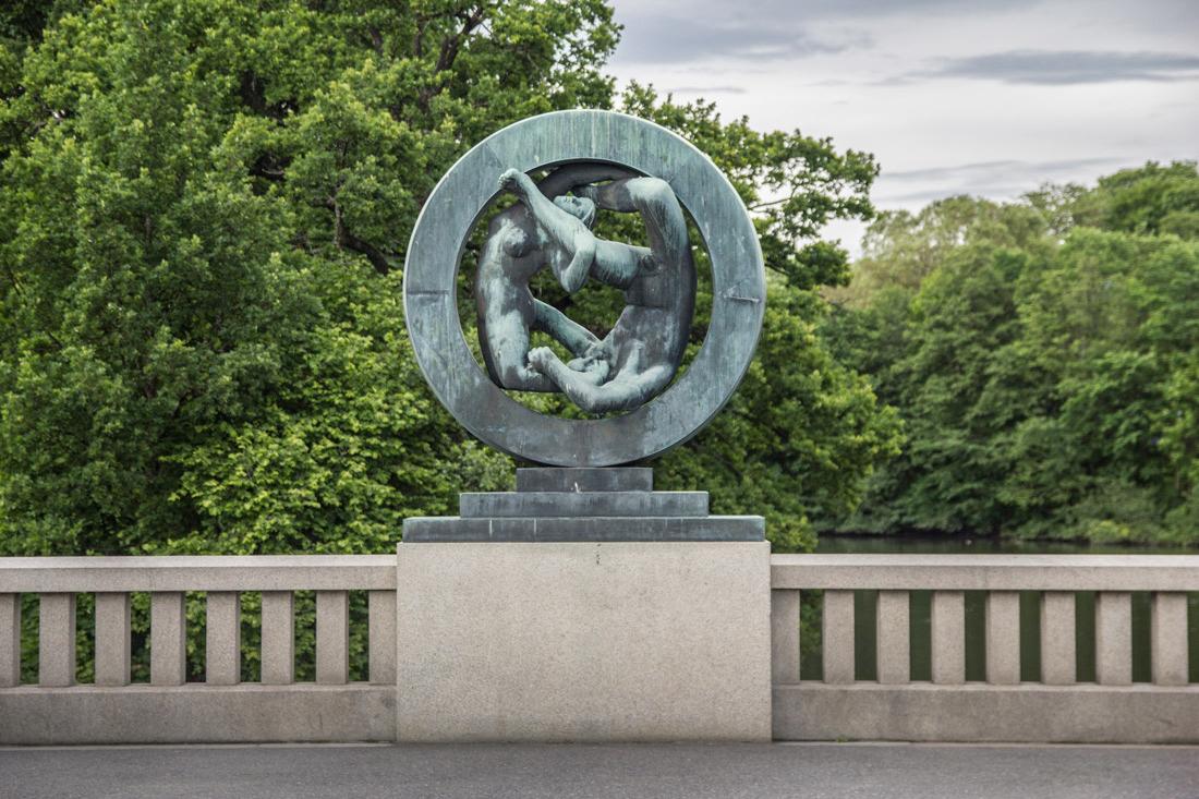 Norwegia Oslo w jeden dzień Park Vigelanda rzezba