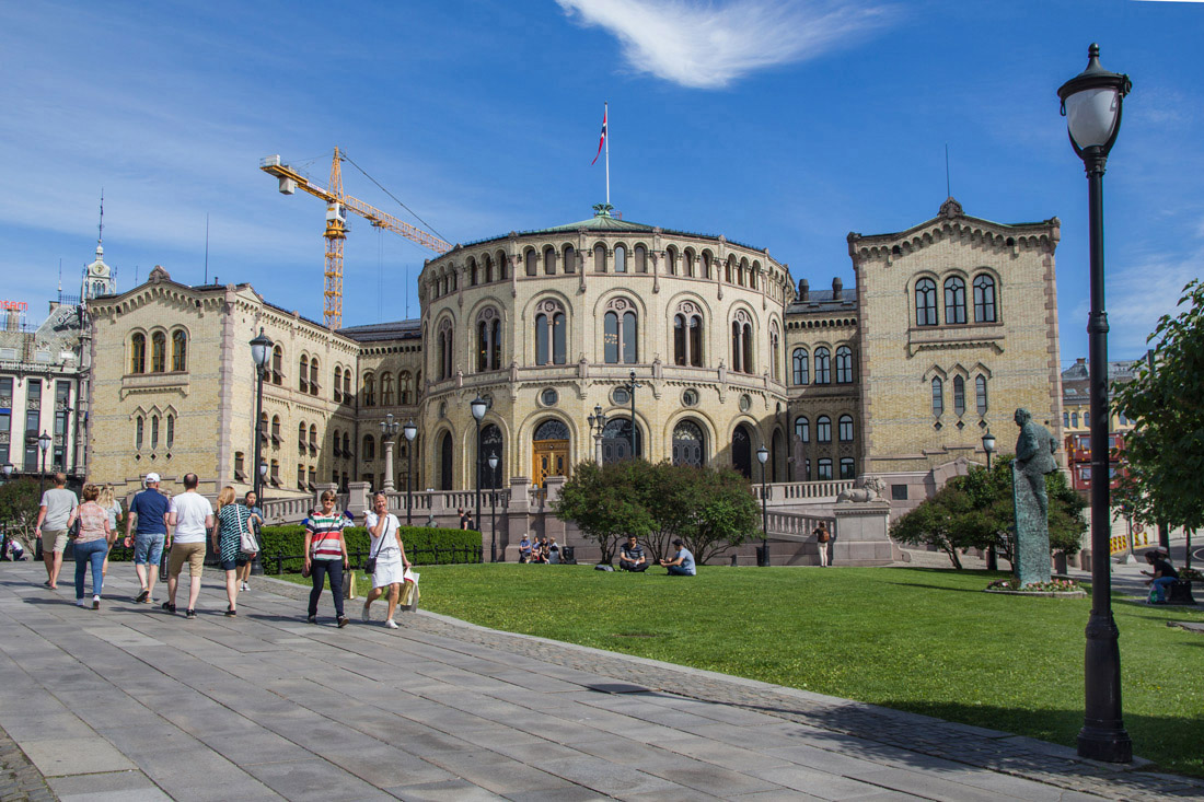 Budynek parlamentu Norwegii w Oslo