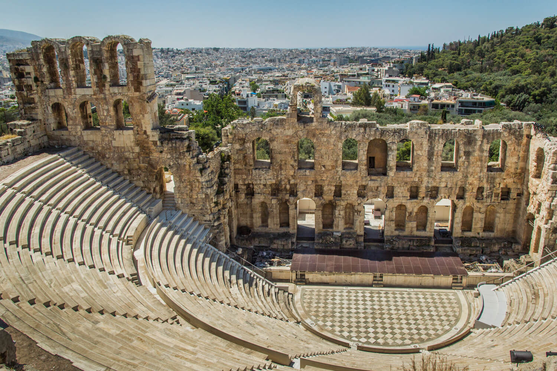 Grecja, Ateny, Akropol, Odeon Heroda Attyka