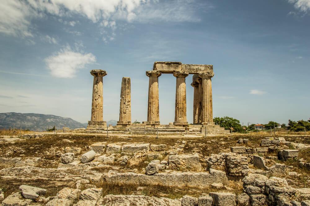 Grecja, Stary Korynt, Świątynia Apollina