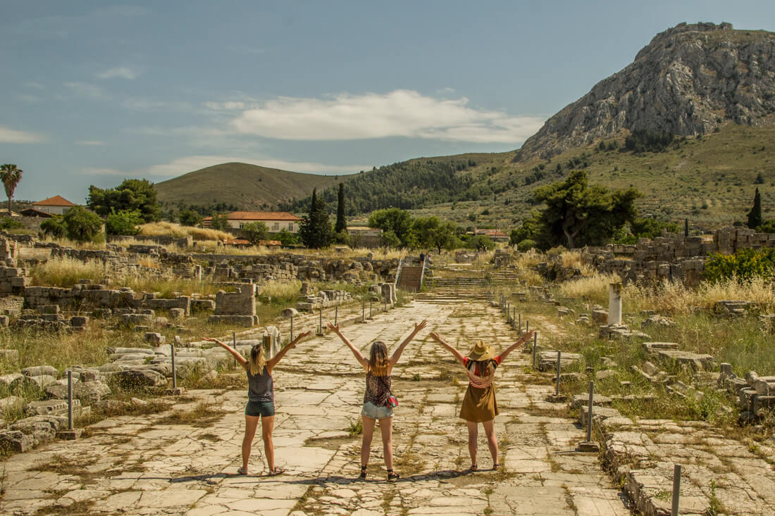 Grecja, Stary Korynt, zwiedzanie