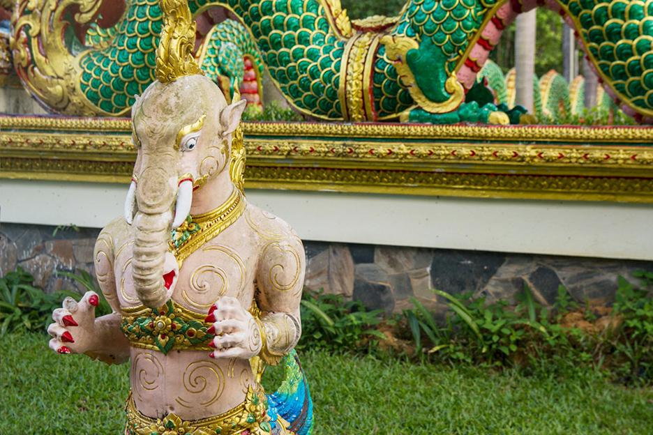 Tajlandia Koh Chang detal świątyni buddyjskiej