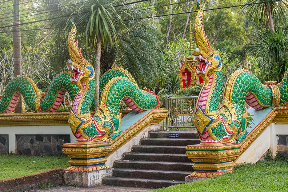 Tajlandia Koh Chang detale swiatyni buddyjskiej