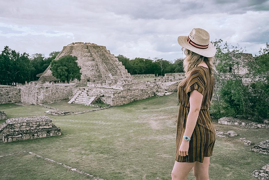Strefy archeologiczne na Jukatanie: Piramida Kukulkana w Mayapan