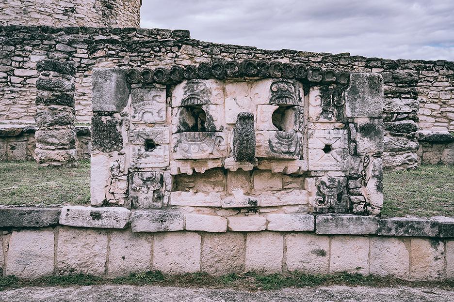 Strefy archeologiczne na Jukatanie: detal w Mayapan