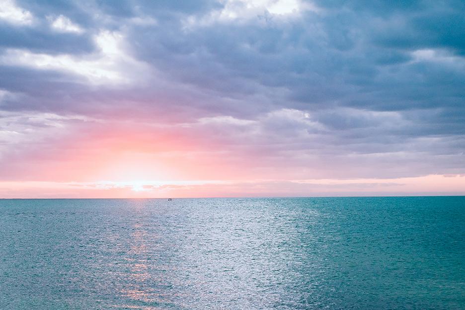 Meksyk, Jukatan: zachód słońca