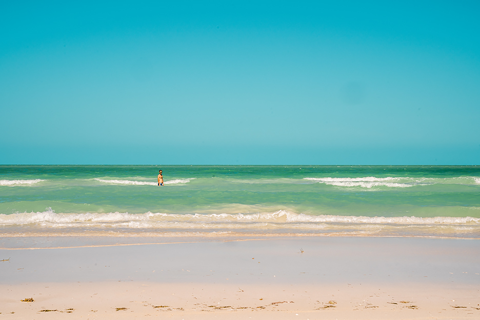 Meksyk, Jukatan: plaża Cancunito