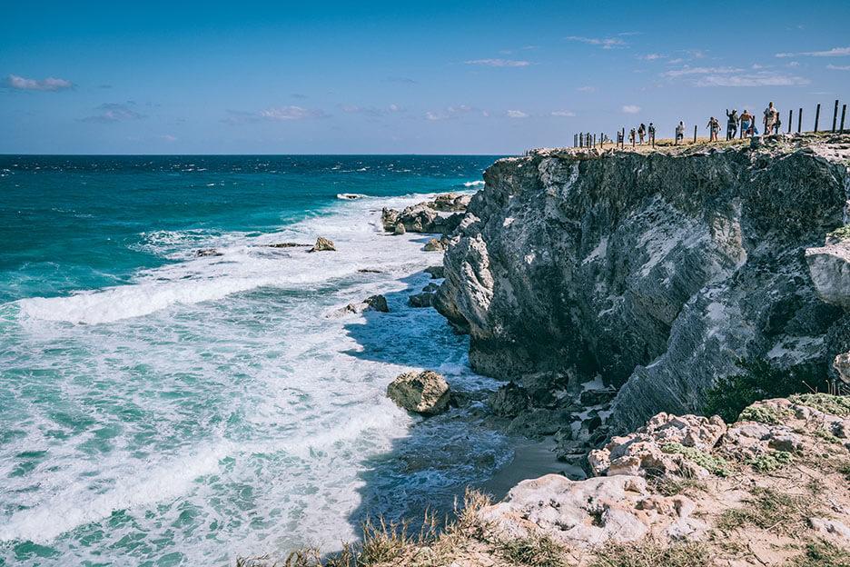 Meksyk, Wyspa Kobiet, Punta Sur, klify