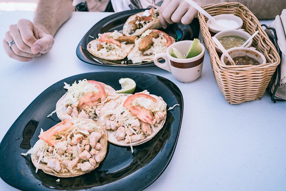 Meksyk, tacos na Isla Mujeres
