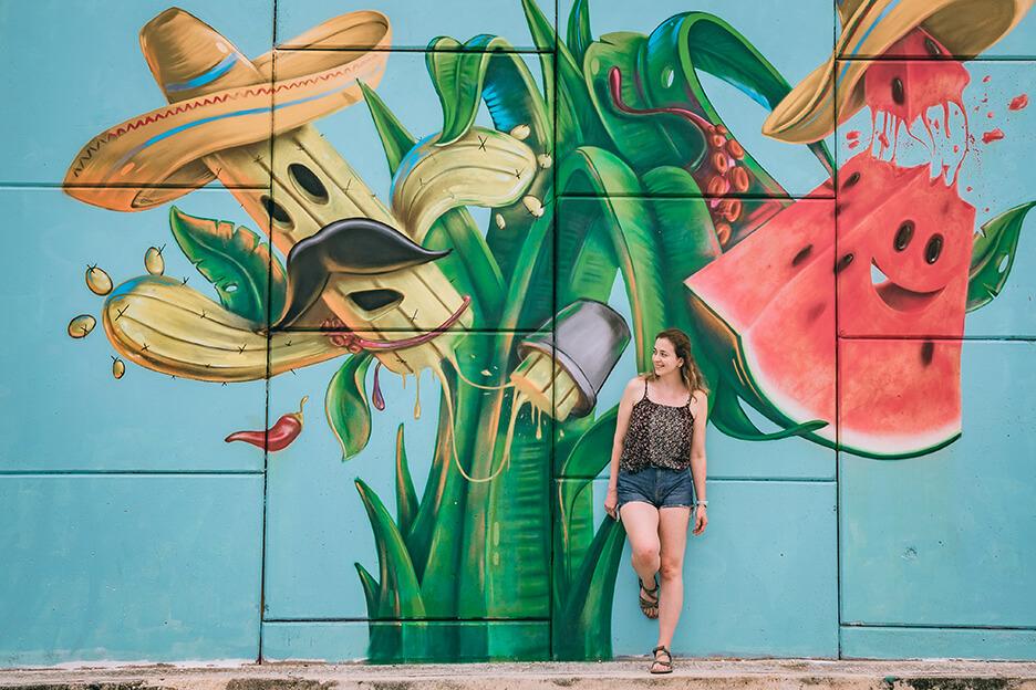 Meksyk i Riwiera Majów: graffiti.