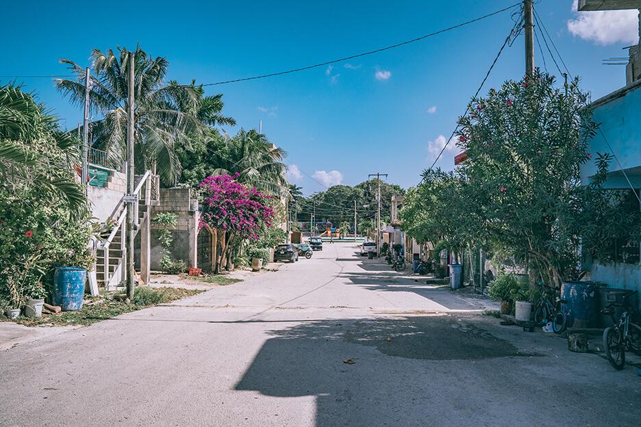Meksykańska ulica na Jukatanie