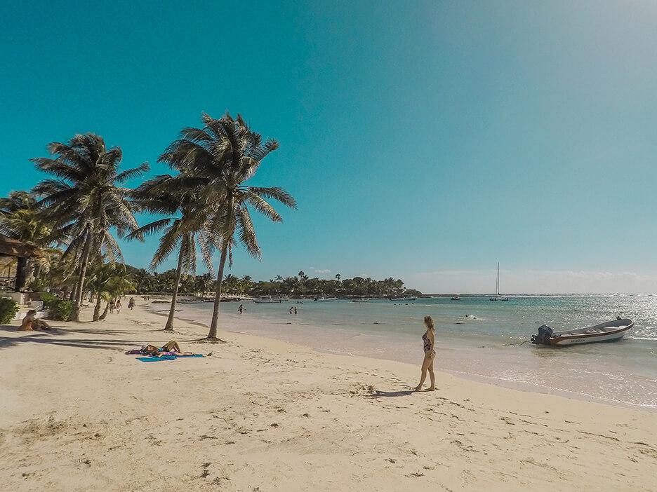 Plaża na Riwierze Majów.