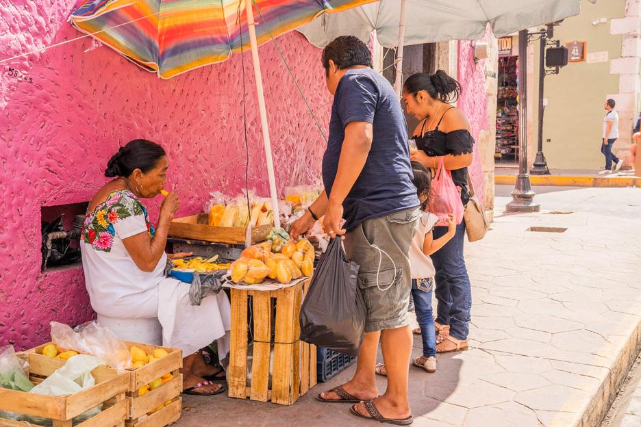 Meksyk, Valladolid, targ uliczny