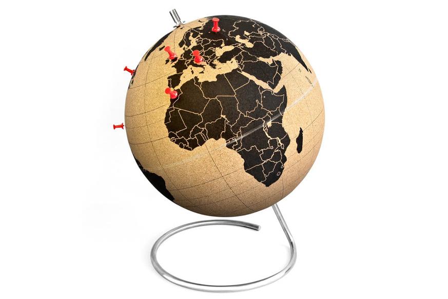 Prezent dla podróżnika, korkowy globus