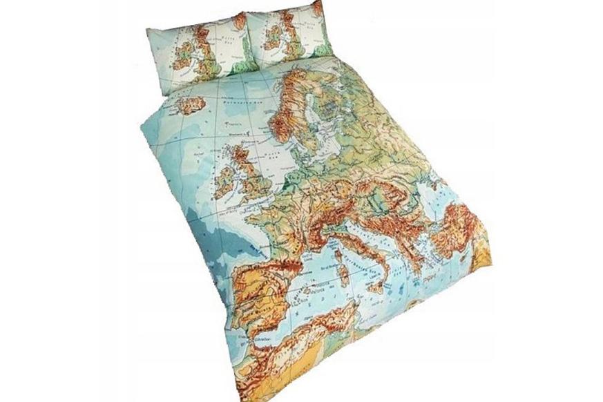 Pościel mapa Europy