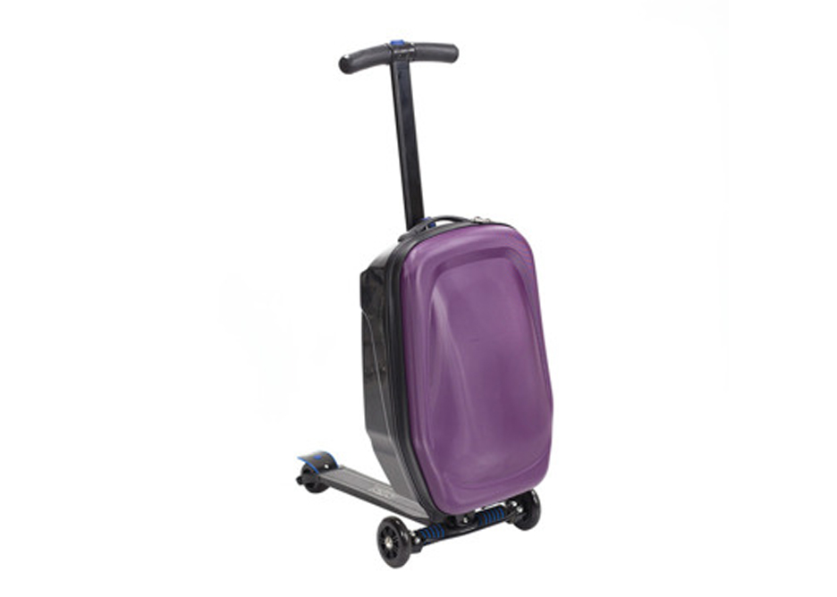 Prezent dla podróżnika, walizka hulajnoga