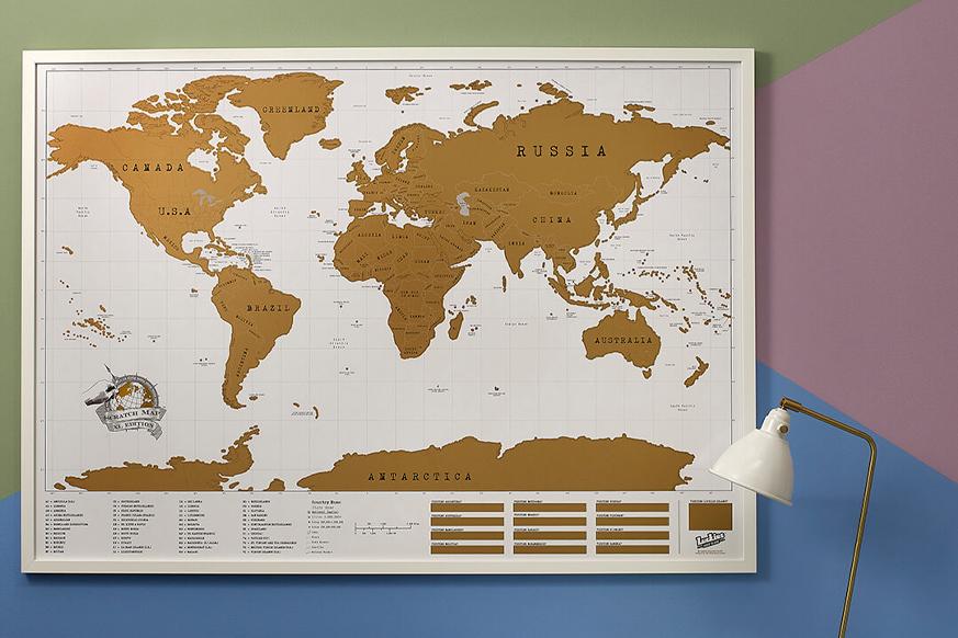 Mapa świata zdrapywalna
